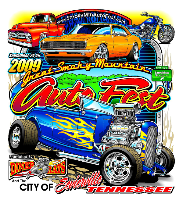 Official Events Tees Motorsport TShirts Maryville Tennessee - Car show t shirts